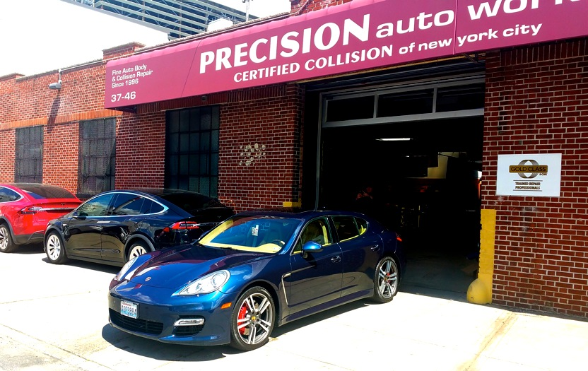 Precision Auto Works of LIC is Ford, Fiat, Chrysler, Volkswagen and Tesla certified.