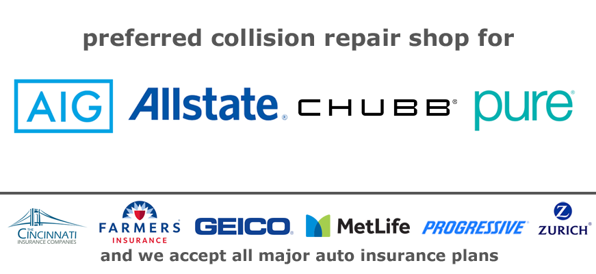 Precision Auto Works of LIC accepts AIG, Pure, Allstate, Liberty Mutual Guaranteed Repair Network and all major auto insurance plans.