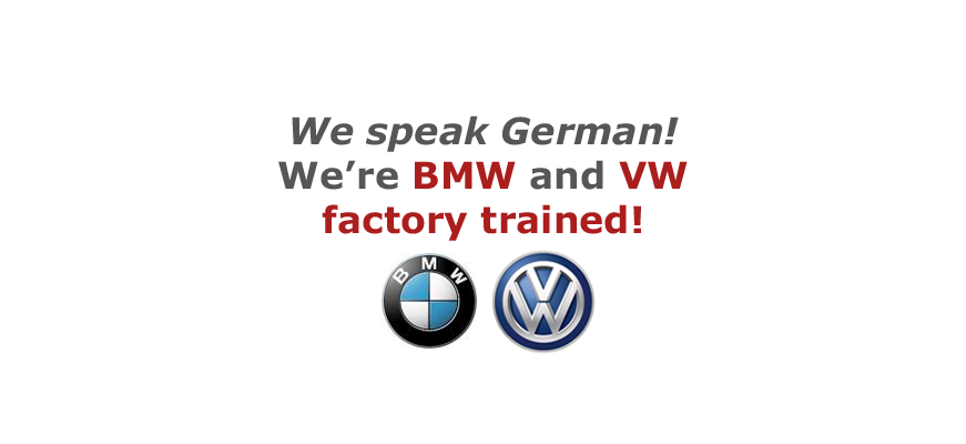 Precision Auto Works of LIC auto body shop is BMW and Volkswagen Factory Trained.