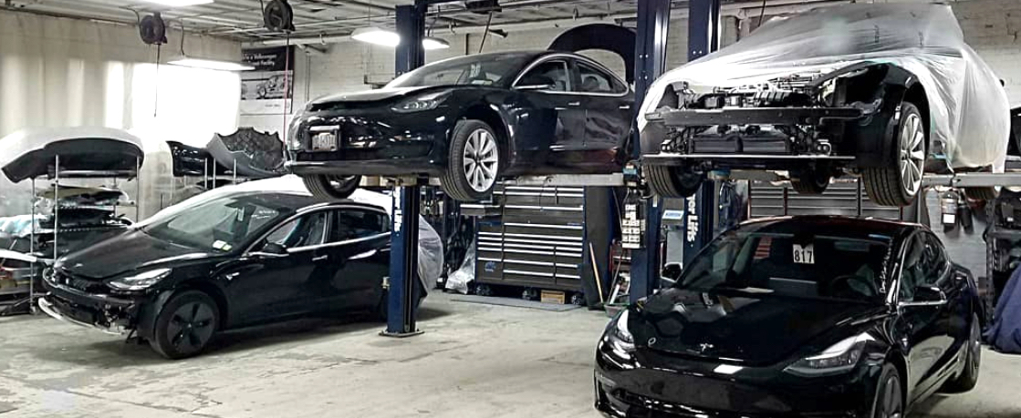 #thismustbetheplace Precision Auto Works of LIC in NYC's first Tesla Factory Trained and Approved Body Shop, serving the NYC tristate area, Long Island and the East End.