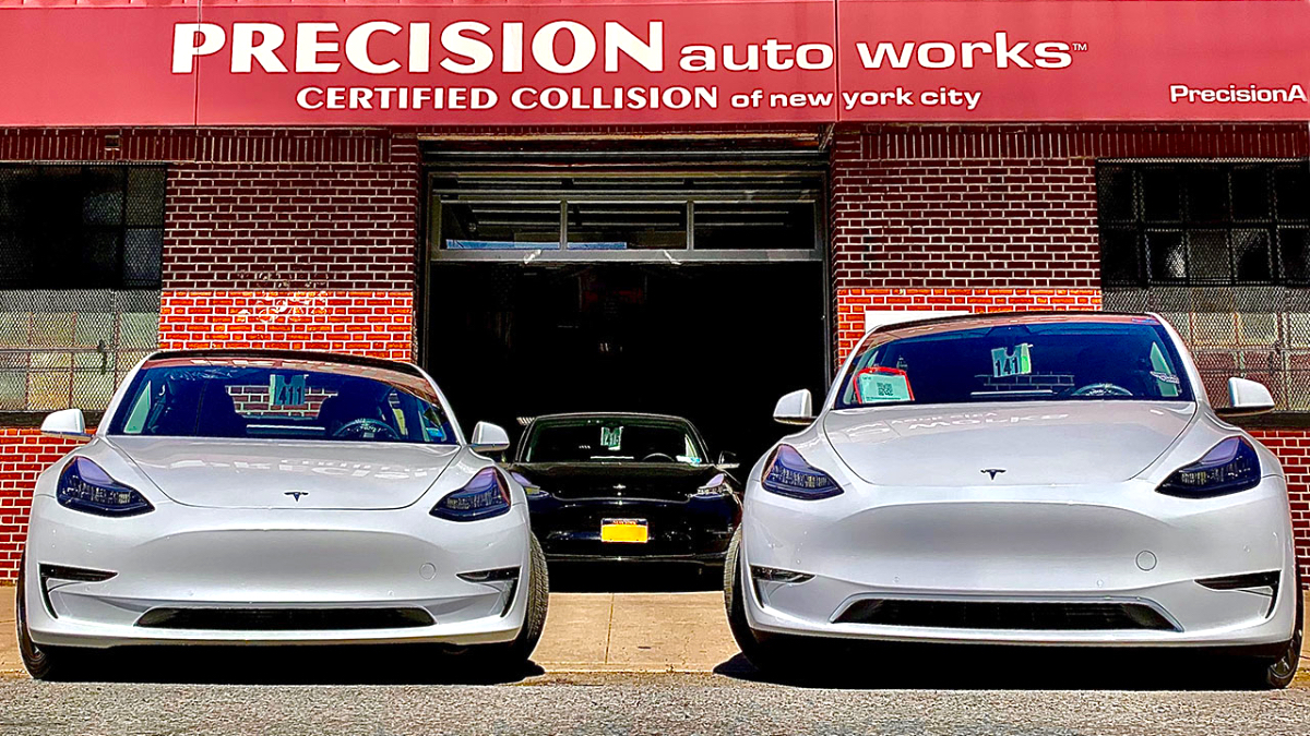 Precision Auto Works of LIC is a top rated Tesla Approved Body Shop in Queens, NY