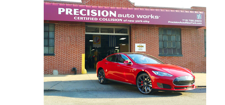 Precision Auto Works of LIC is NYC's only Tesla factory trained and certified body shop.
