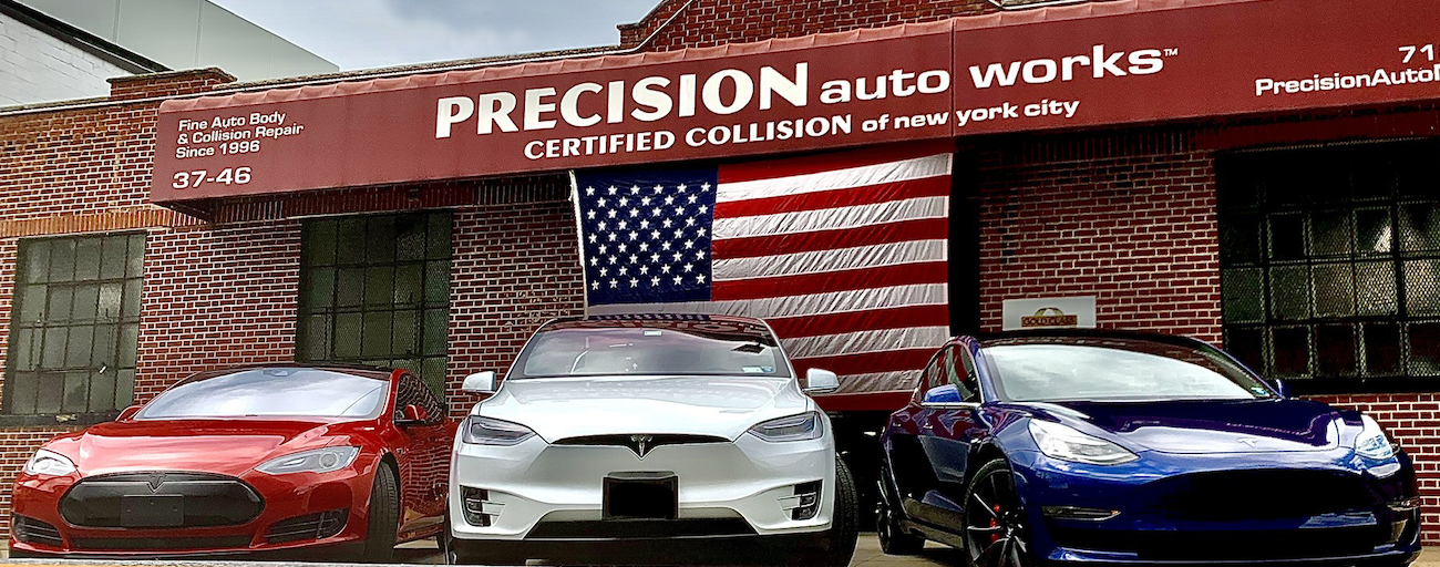NYC's first Tesla Factory trained and Approved Body Shop, with experience on over 1500 Tesla vehicles, since 2010.